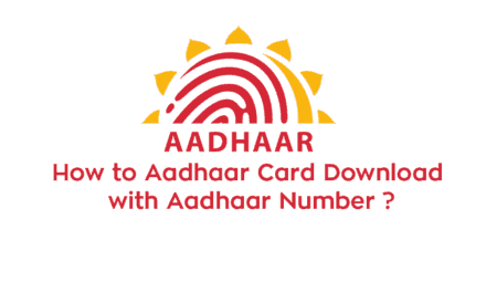 How to Aadhaar Card Download with Aadhaar Number ?