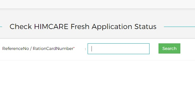 Check HIMCARE Fresh Application Status