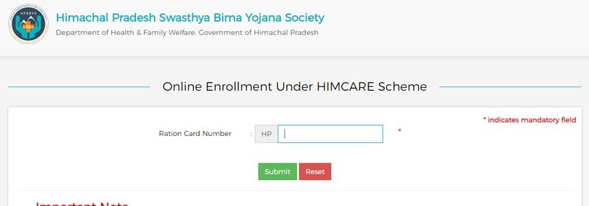HP Himcare Online Enrollment