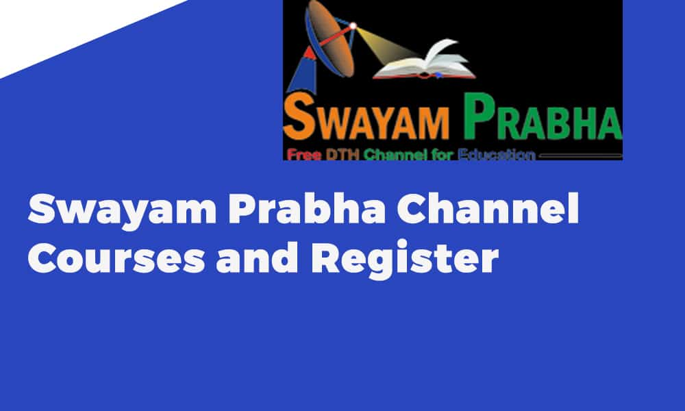 Swayam Prabha Channel Courses and Register