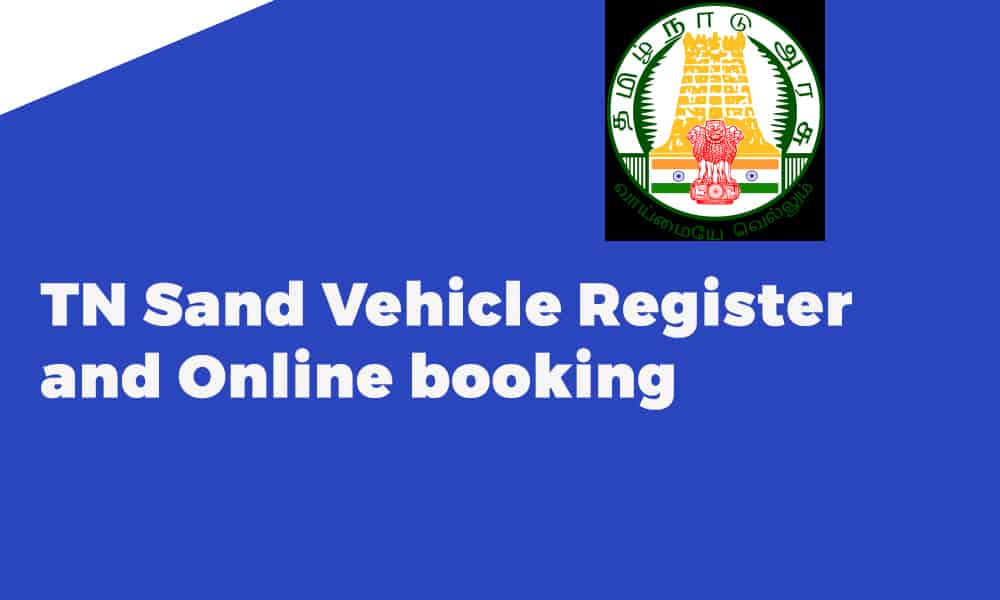 TN Sand Vehicle Register and Online booking