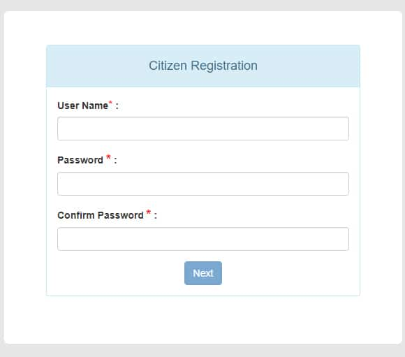 e-District West Bengal Register Form
