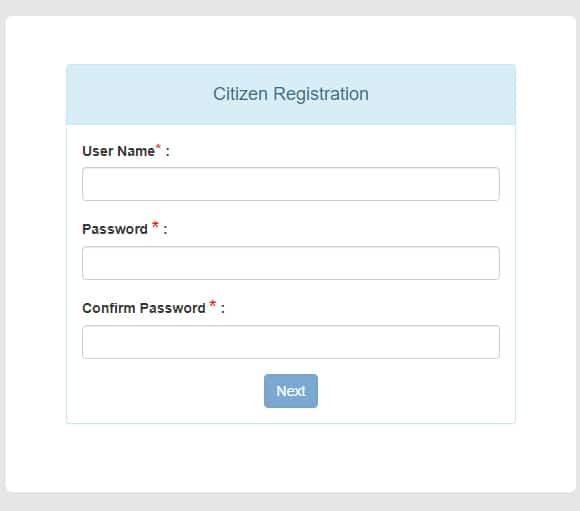 e-District West Bengal Register Form
